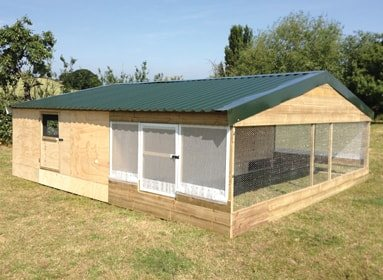 19'x20' Pukk1000 rearing shed & night shelter combi